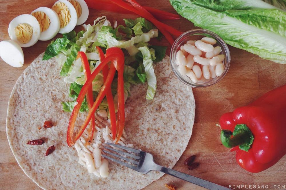 Wraps vegetales - simple y sano