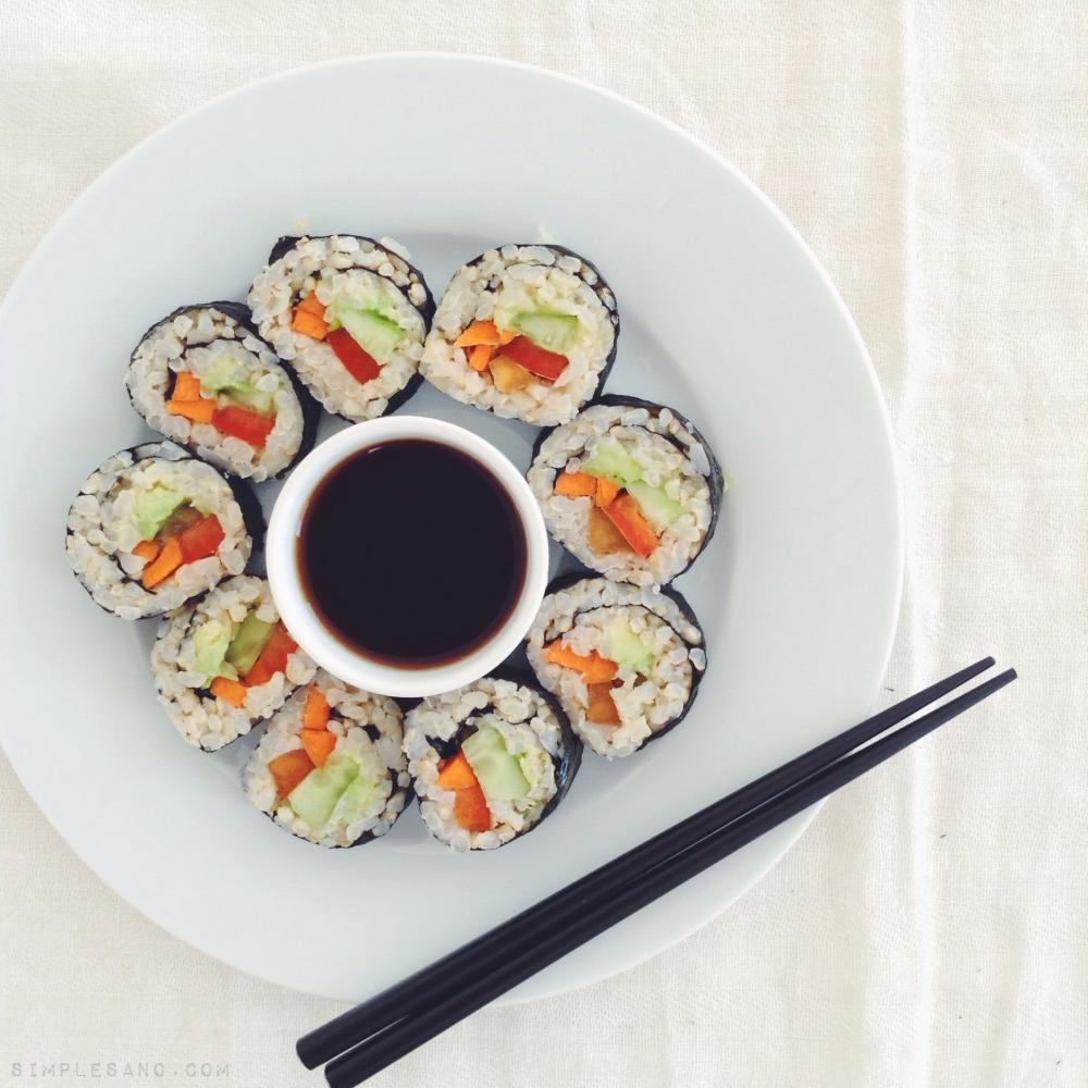 Sushi vegetal - simplesano.com
